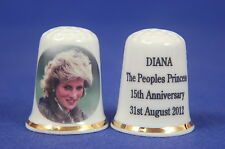 Diana The People's Princess 15th Anniversary 2012 China Thimble B/173