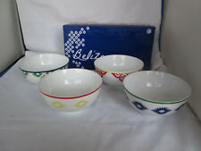 New Set of 4 Colorful Belize Porcelain Soup Bowls with Gift Box Kelly Ventura