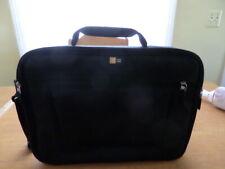 """Case Logic Black Padded Nylon Computer Messenger Laptop Shoulder Bag 14"""" - 17"""""""