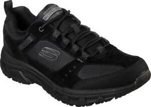 NEW Mens SKECHERS Relaxed Fit Oak Canyon Black SUEDE Sneaker Shoes AUTHENTIC