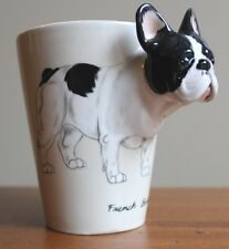 Blue Witch 3D French Bull Dog Ceramic Hand Crafted Coffee Mug