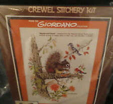 Paragon Girodano Crewel Kit Squirrel & Friends Vintage 1981 Picture Wall Hanging