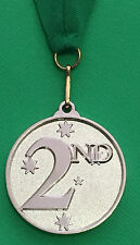 2nd Place Award Medal 50mm and Ribbon + FREE Engraving