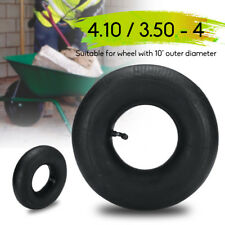 4.10 / 3.50 - 4 Inner Tube For Pneumatic Wheel Trolley Wheel 10'' Bent Valve Air