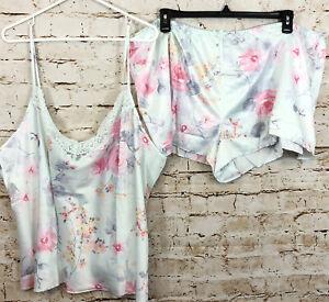 Apt 9 womens 2X cami pajamas shirts set NEW floral tank satin lace vneck F10
