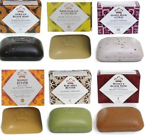 Nubian Heritage - (6 Pack)   Assorted Bar Soaps 5 oz, Shea Butter - as Shown