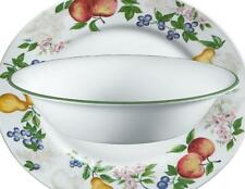 CORELLE 18-oz CHUTNEY FRUIT Soup CEREAL BOWL 7 1/4 Green Rim NEW Style NO Swirl""