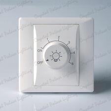 1 Gang Blanco LED de borde posterior Compatible: Interruptor regulador 800 Watt