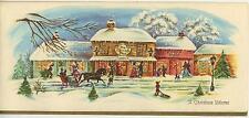 VINTAGE CHRISTMAS VILLAGE CANDY SHOP HORSE 1 SKI SHOES YELLOW LABRADOR DOG CARD