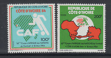 Ivory Coast 1984 African Soccer Cup Sc 708-709   mint lightly hinged