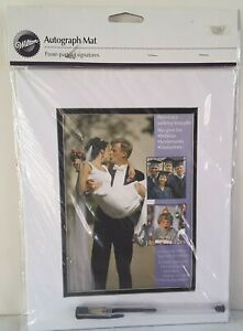 WILTON Wedding AUTOGRAPH Mat For Anniversaries Keepsake Photo Mat FR SH
