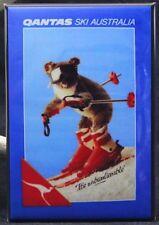 "Qantas Ski Australia 2"" X 3"" Fridge / Locker Magnet. It's Unbearlievable!"