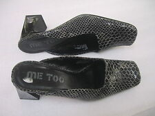 """Womens ME TOO Leather Animal Snake Slip on 2.75"""" Mules Size 6.5M Shoes"""