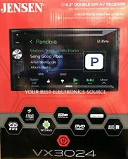 NEW Jensen VX3024 Double DIN Bluetooth DVD/CD/AM/FM/Digital Media Car Stereo