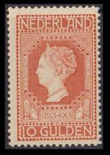 Olanda 1913 – Centenario dell'indipendenza 10 g. arancio n. 93. Cat. € 1000,00.