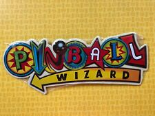 KOOL RETRO PINBALL WIZARD GAMES CARNIVAL ARCADE EMBOSSED METAL SIGN