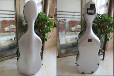 Full size composite grey color Carbon fiber Cello Case Free Shipping