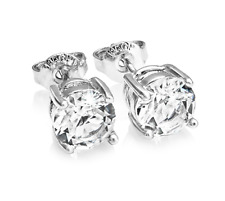 Round 6mm Earrings Embellished with Crystals from Swarovski® in Gift Box