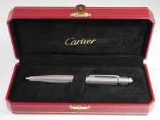 Cartier Diabolo Platinum Plated Chevron Ballpoint Pen NEW