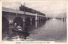 # VENEZIA: PONTE DELLA FERROVIA SULLA LAGUNA (con treno) - 1928