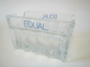 EQUAL BRAND ASPARTAME SWEETENER SUGAR SUBSTITUTE PACKETS GLASS DISH HOLDER BOWL