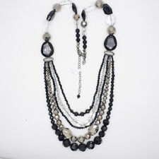 lia sophia women jewelry multi layers necklace cluster statement bib glass stone