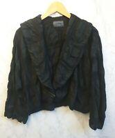 Oska Womens Black Wool Textured Jacket Size 1/ UK 8