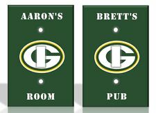 PERSONALIZED Green Bay Packers Light Switch Covers NFL Football Home Decor