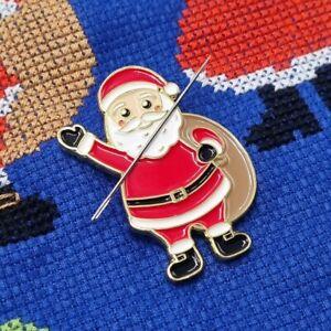 Father Christmas Needle Minder, Enamel Needle Minder, Magnet by Meloca Designs