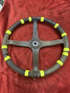 Vtg Hupmobile Lincoln Cadillac Wood 4 Spoke Steering Wheel Antique Speedster Oem