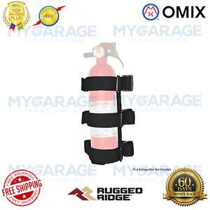 Omix-ADA For 55-19 CJ Wrangler Gladiator Sport Bar Extinguisher Holder Black