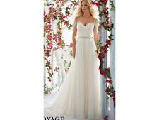 Mori Lee Wedding Dress 6814 Size 10 Light Gold/silver accents NEW!!