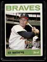 1964 TOPPS ED MATTHEWS VG/EX MILWAUKEE BRAVES #35