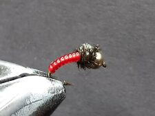 1 DOZEN  TUNGSTEN HEAD RED NYMPHS FOR FLY FISHING-TUNG 167