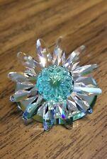 Swarovski Crystal 2001 Renewal Green Marguerite Daisy Flower, Mirror, Logo, Coa