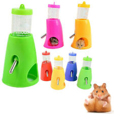 2in1 Small Animal Hamster Dispenser With Base Nest Water Bottle Holder Pet #HD3
