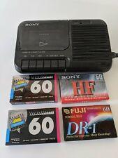 Sony Portable Cassette Tape Player Recorder Tcm-818 Cassette-Corder + 4 New Tape