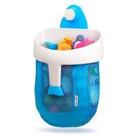 Munchkin Scoop, Baby Bath Toy Drain and Store Storage Bathtime Organiser Blue