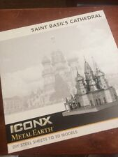 $30 Iconx Metal Earth St Basil Cathedral 3D Laser Cut Model Nib