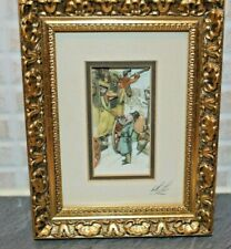 Charming Framed Anton Pieck Diarama Presented By Sandra Lancaster