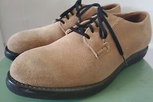 Men's Red Wing Japanese Postman Oxford #9103 Suede Leather USA 10.5 EU 44 Sand