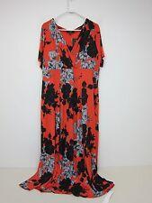Joanna Hope Floral Print Jersey Maxi Dress - Womens US 22 - Orange - NWT