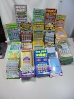 $1000 worth LOSING New York NY Scratch off Lottery Tickets already scratched off
