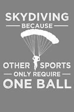 Skydiving Because Other Sports Only Require One Ball: Parachute Free Falling Gif
