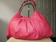 Kenneth Cole pink genuine leather large handbag hobo tote