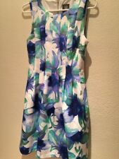 Women Beautifull Dress Coctail White Green Blue Sleeveless 6 Vince Gamuto