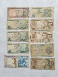 Escudos Portugal Lot Banknotes
