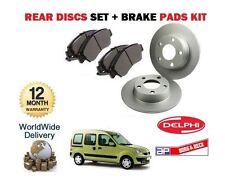 FOR RENAULT KANGOO 4 x 4 TREKKA 1999-2008 REAR BRAKE DISCS SET AND DISC PADS KIT