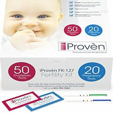 Ovulation Tests Test Strips And Pregnancy Kit 50 LH 20 HCG OPK Predictor IProven