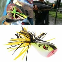 Artificial Spinner Sinking Hard Fishing Lures Bass Bait Nakehead Cicada Frog